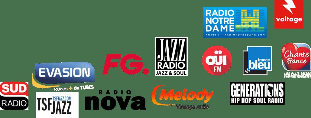 logos radios Paris Etendu